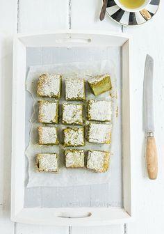 matcha custard cake- yum!