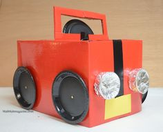 DIY cardboard car for kids!
