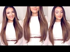 "How to Clip in Hair Extensions + Review Bellami 220g 22 inch Ash Brown  Code ""beautybox"" for a discount on hair"