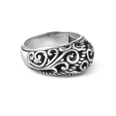 Carolyn Pollack Jewelry // #CP #Signature #Sterling #Silver Cigar Band Ring