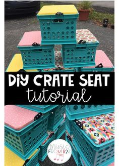 Looking for more flexible seating options for your classroom? Check out this tutorial on how to make your own crate seats! Step-by-step pictures are included!