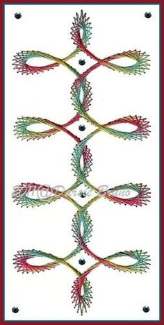 Swirl Border Embroidery Pattern for Greeting Cards. $1.99, via Etsy.