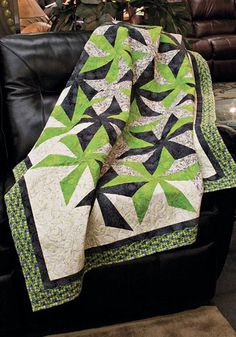 Spinout by Barbara Cline will be the featured Scrap Squad quilt for July/August 2011