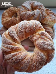 Gobit Ekmek - Leziz Yemeklerim Ice Cream Pies, Turkish Recipes, Cinnamon Rolls, No Bake Cake, Bagel, Doughnut, Bread, Dishes, Baking