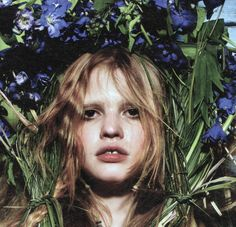 """Lara Stone in """"The Harvest' by Mario Sorrenti for W"""