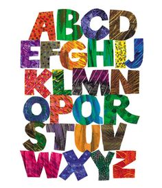 Eric Carle style alphabet