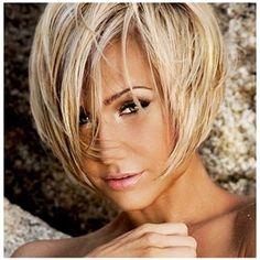 Layered Bob short haircut....soooo cute on her!!!