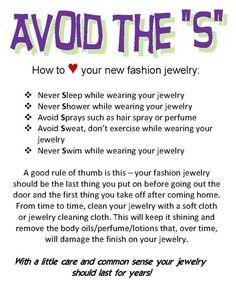 Jewelry care                                                       …