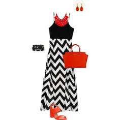 Summer Diva! Favorite color combination of black and white with a splash of vibrant red. by easmithcpa on Polyvore featuring polyvore, fashion, style, Office, Evelyn Knight and Mixit