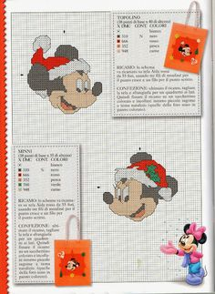 Mickey & Minnie / Santa hats