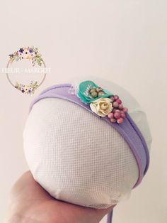 Tieback Jersey baby fleur fruitée violet ,Photo nouveau-né Prop accessoires de photographie de la boutique FleursMargot sur Etsy