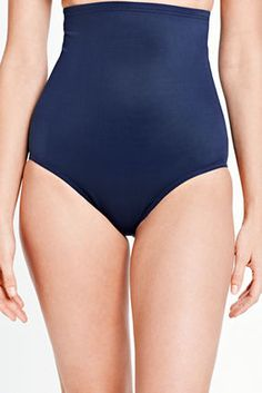 5eb8b345fac73 Women s Slender Separates Solid Ultra High Rise Swimsuit Bottom from Lands   End