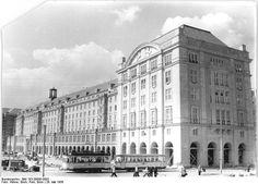 Dresden, Altmarkt, Westseite, 1956