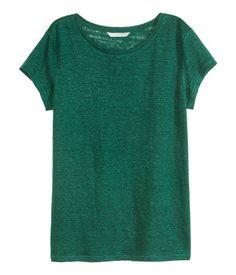 T-shirt in linen jersey.