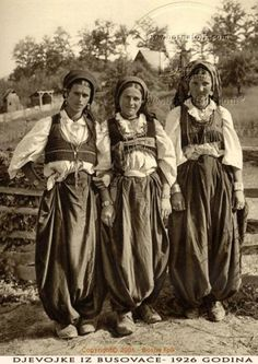 Girls from Busovača in traditional dress. 1926. Bosnia and Herzegovina. http://www.travelbrochures.org/37/europa/bosnia-and-herzegovina-trip-tips