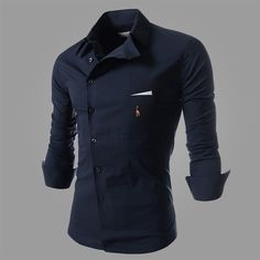 Aliexpress.com : Buy 2016 New Fashion Men Shirt Color Slim Cool Male Shirt Dress Business Shirt Men Long Sleeved Deer Cotton Turn Down Collar from Reliable dress shirt sewing pattern suppliers on La Mode  | Alibaba Group