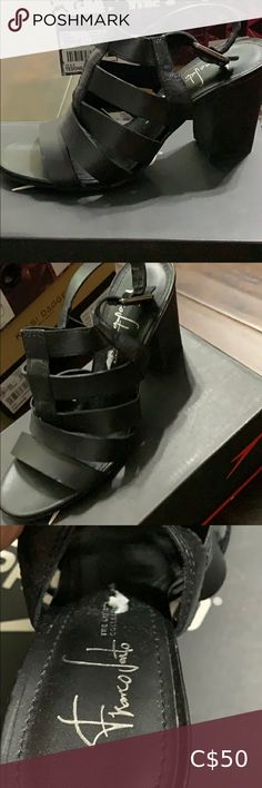 Franco Sarto Artists Collection sandals These shoes are in excellent condition and only worn once. They are black with straps. The size is 7 1/2. The brand is Franco Sarto the artist collection. They are super comfortable and beautiful. Franco Sarto Shoes Sandals
