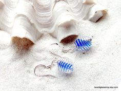 Sea Glass Beach Glass Earrings Rare Cobalt Blue by beachglassshop, $22.00