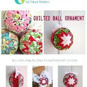 Quilted Christmas Ball Ornament - via @Craftsy
