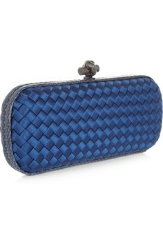 Bottega Veneta | The Knot intrecciato satin and ayers clutch | NET-A-PORTER.COM