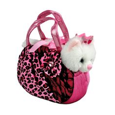 Title: Princess Cat Pink Leopard Bag Fancy Pals Size: Measures 8 inch / 20cm long Price: AUS$ 22.95 Brand : Aurora  Lots more items like this available at: www.stuffedwithplushtoys.com 100 Day Returns |Fast Trackable Shipping|Amazing Service