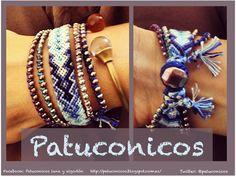 Pulsera de hilo Patuconicos mix elegantes diferentes con hilo muy fino de altisima calidad, solo por encargo precio 25 € (gastos de envio no incluidos).