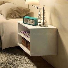 nicho criado mudo suspenso 100% mdf 15mm branco- 30x30x30 cm