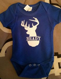 Hey, I found this really awesome Etsy listing at https://www.etsy.com/listing/255141572/personalized-deer-onsie
