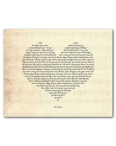 Thinking Out Loud - Ed Sheeran - Personalized Heart Typgoraphy - Song Lyrics - Inspiration - Wedding Gift - anniversary gift Mothers Day by SusanNewberryDesigns on Etsy Paper Anniversary, Wedding Anniversary Gifts, Wedding Gifts, Love You All, My Love, Thinking Out Loud, Wedding Songs, Wedding Playlist, Wedding Art