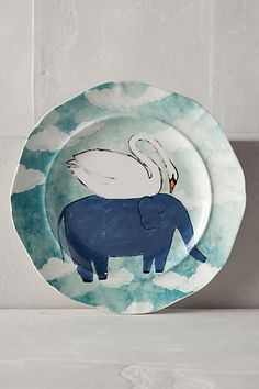 Make and decorate a paper mache plate. Echo Treks Dessert Plate #anthropologie