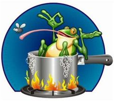 Do you sometimes feel like the proverbial Frog in the Kettle? Are you constantly trying to grab just one more bit of pleasure, thinking everything is OK, life will keep on being just fine, like this frog trying to zap one more fly with its tongue, while the fire under the kettle is making the water hotter and hotter? GO TO: http://hosken-news.blogspot.com/2016/04/true-freedom-or.html