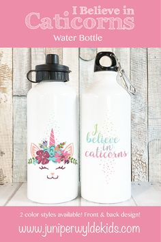 I Believe in Caticorns Water Bottles for Kids, Water Bottle Unicorn Cat Water Bottle, Cat Unicorn Gifts for Girls Unicorn Cat Gift, 20 oz Personalized Bookmarks, Personalized Gifts For Kids, Personalized Water Bottles, Unicorn Cat, Unicorn Gifts, Aluminum Water Bottles, Stainless Steel Water Bottle, After School, Cat Gifts