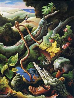 'Butterfly Chaser', 1932 Thomas Hart Benton (1889-1975, United States)
