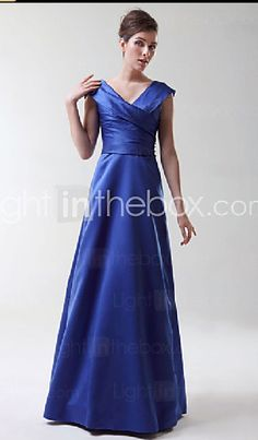$88.19 Formal look for BM in January http://www.lightinthebox.com/A-line-V-neck-Floor-length-Satin-Bridesmaid--Wedding-Party-Dress--HSX220-_p24729.html