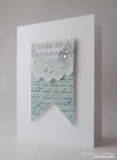 Simply beautiful handstamped card.