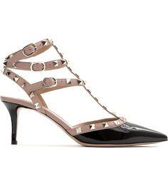 VALENTINO - Rockstud 65 patent-leather heeled courts   Selfridges.com
