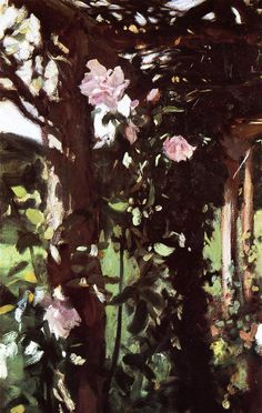 a rose trellis at oxfordshire, john singer sargent