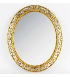 PLASTIC WALL MIRROR IN GOLD COLOR 57Χ68