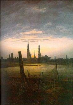 City at Moonrise - Caspar David Friedrich