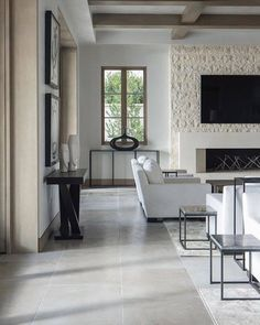 Exquisite Surfaces Tao Gray Rustic from the Heritage stone collection. Interior Decorating, Interior Design, Interior Ideas, Living Room Flooring, Luxury Decor, Stone Flooring, French Decor, Kitchen Interior, House Design