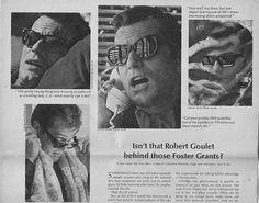 Robert Goulet Foster Grant sunglasses ad ca 1967