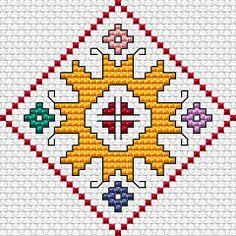 Summer Motif free cross stitch pattern