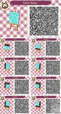 Animal crossing open water swimming pool qr codes