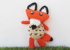Schema uncinetto volpe amigurumi - free crochet fox pattern in English and Italian at Fabcroc.