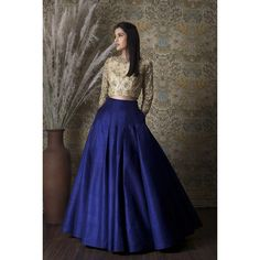 Skirt/ Royal Blue Pleated Skirt Full Length with by KaamdaniCouture Salwar Designs, Lehenga Designs, Blouse Designs, Pakistani Dresses, Indian Dresses, Indian Outfits, Bollywood Dress, Indian Attire, Indian Wear