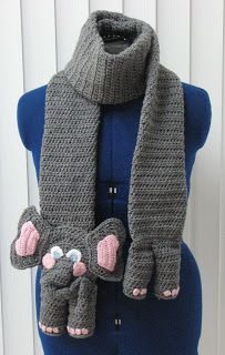 Donna's Crochet Designs Blog of Free Patterns: Elephant Scarf and Tote Set Crochet Pattern