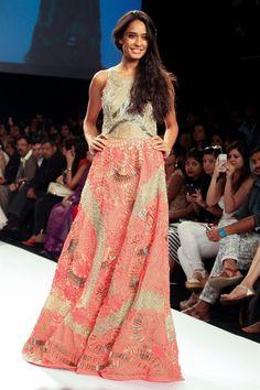 Lisa Haydon for  Monica  Karishma | Lakme Fashion Week 2014