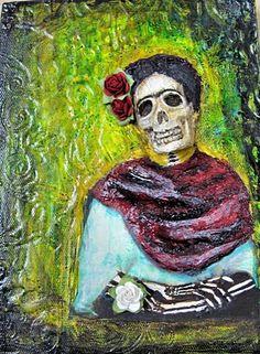 ..skull art journal