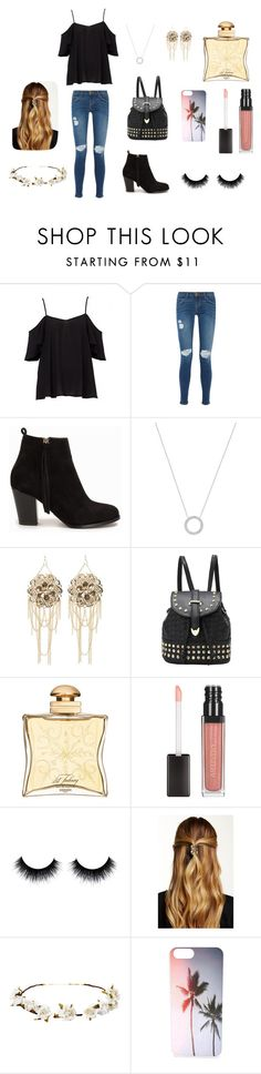"""""""Untitled #7"""" by tannspradling on Polyvore featuring Current/Elliott, Nly Shoes, Michael Kors, Bebe, Hermès, Natasha Accessories and Cult Gaia"""