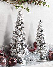 Orvis Mercury Glass Trees, 12 Inch